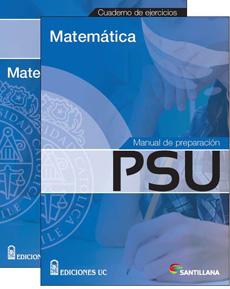 MANUAL PREPARACION PSU MATEMATICA Y CUADERNO EJER