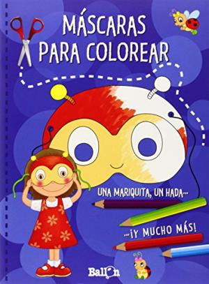 MASCARAS PARA COLOREAR AZUL