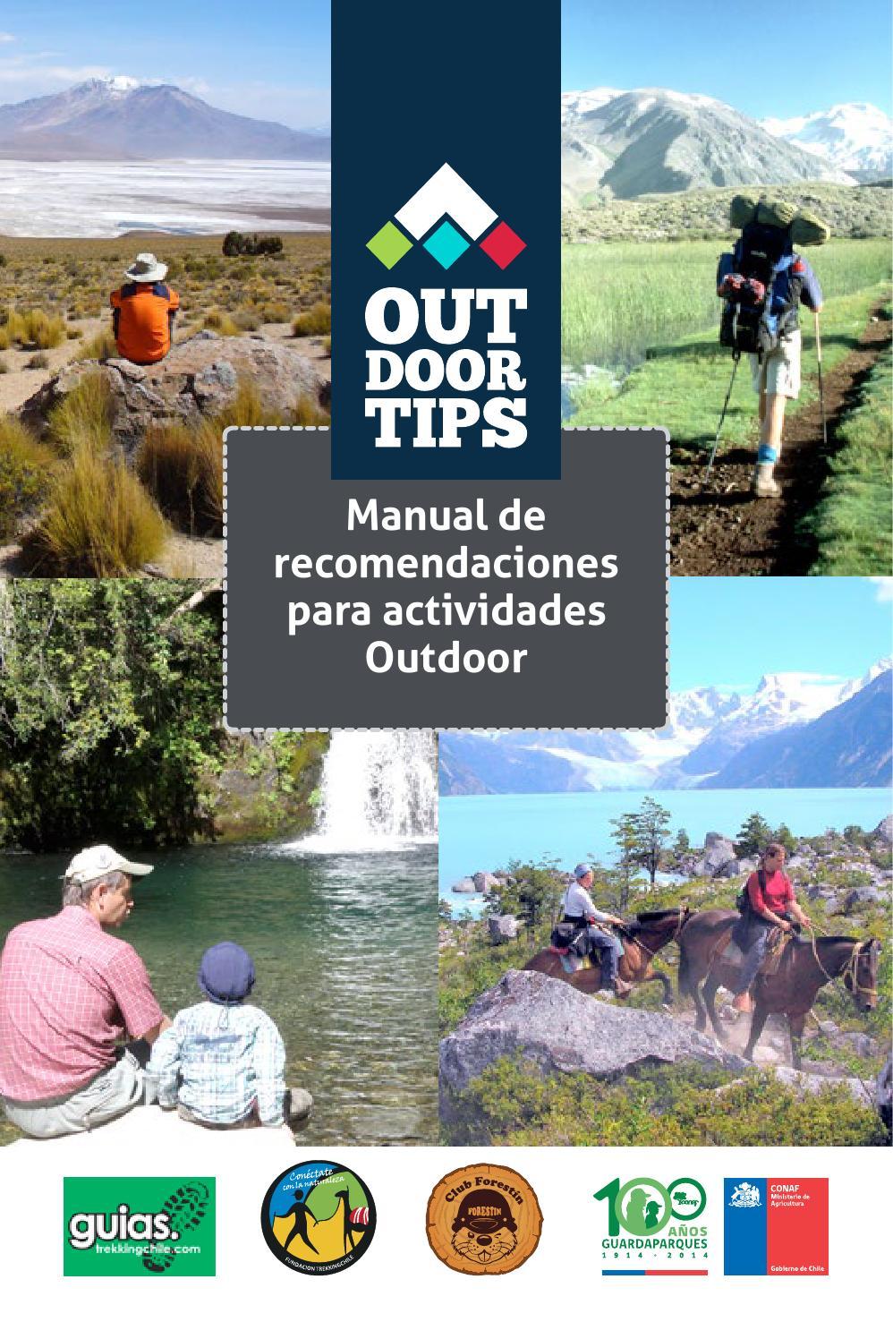 OUTDOOR TIPS MANUAL DE RECOMENDACIONES PARA ACTIVIDADES OUTDOOR