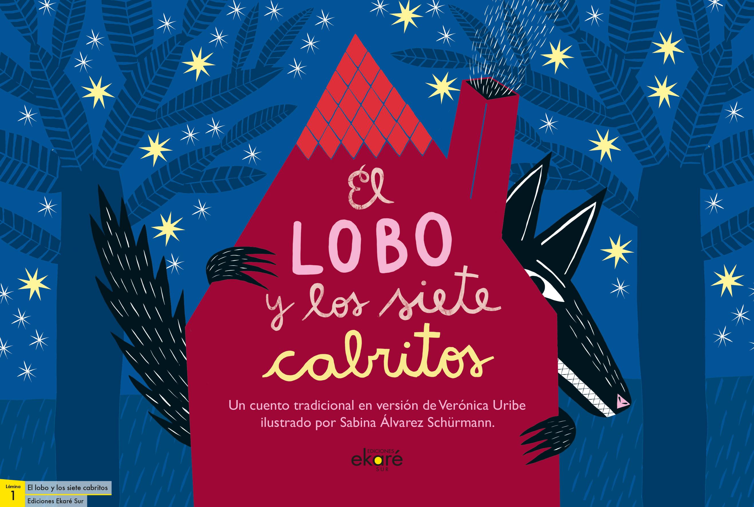 LAMINAS EL LOBO Y LOS SIETE CABRITOS