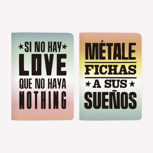 LIBRETAS POCKET X2 SI NO HAY LOVE+ FICHAS