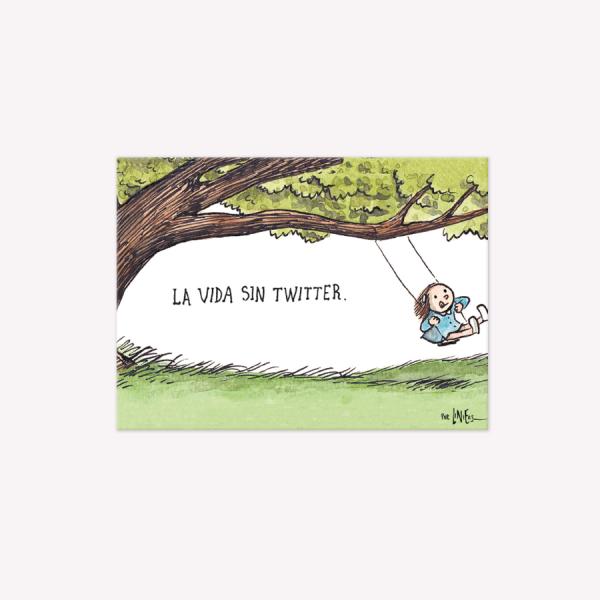 VIÑETA IMANTADA LA VIDA SIN TWITTER – LINIERS