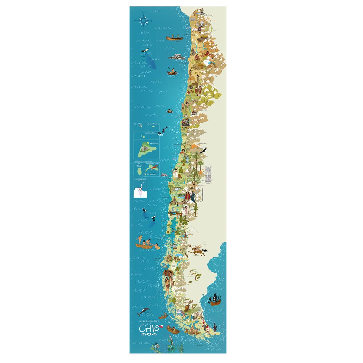MAPA DE CHILE PUEBLOS ORIGINARIOS