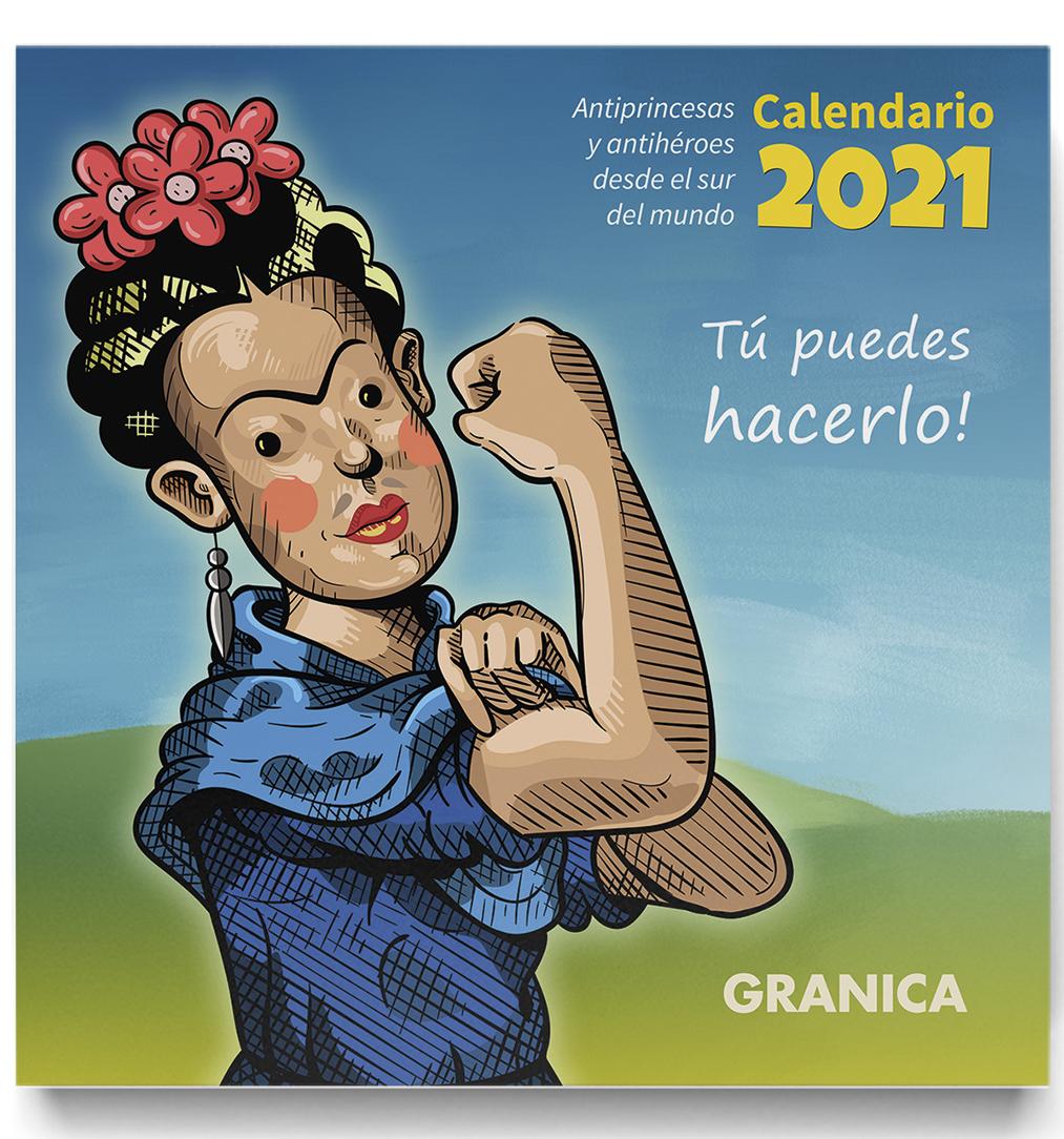 CALENDARIO DE PARED ANTIPRINCESAS 2021