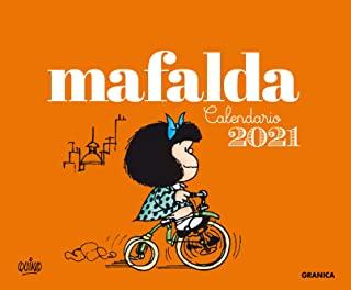 CALENDARIO 2021 MAFALDA ESCRITORIO ANARANJADA