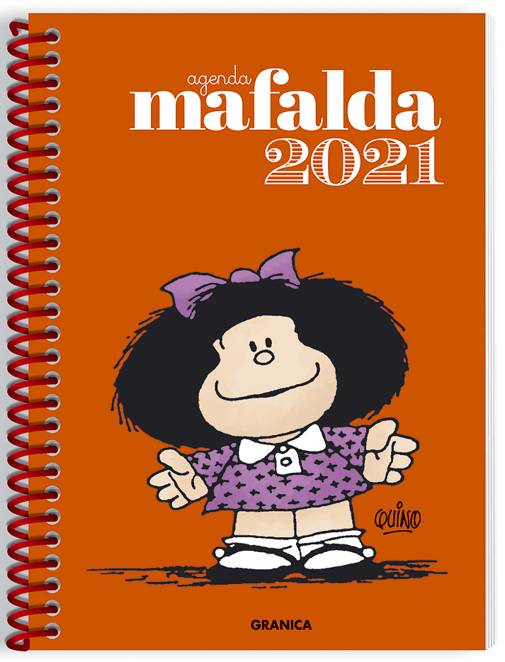 AGENDA 2021 MAFALDA ANARANJADA ANILLADA