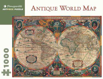 PUZZLE ANTIQUE WORLD MAP