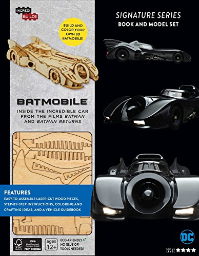 BATMOBILE SIGNATURE SERIES LIBRO Y MODELO PARA ARMAR 3D
