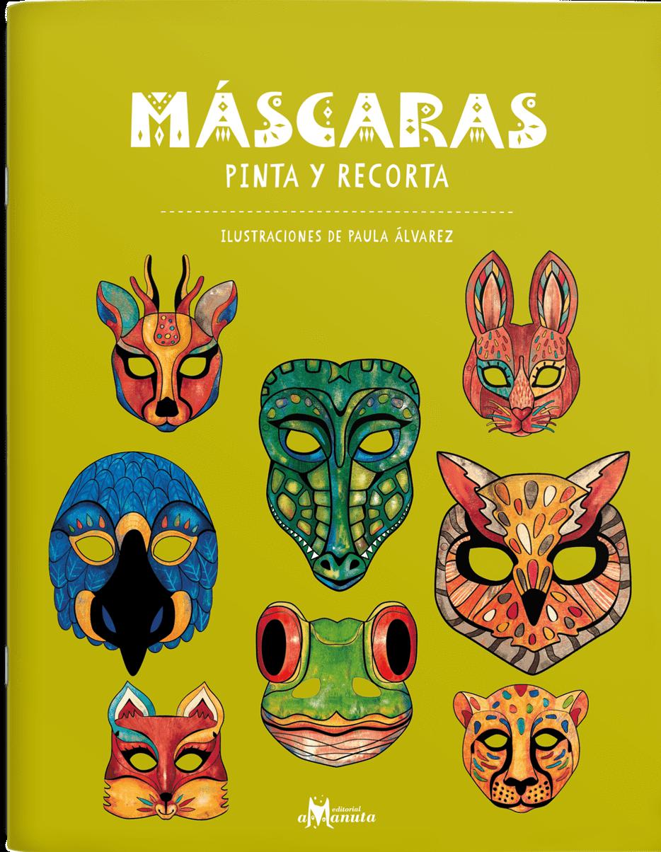MASCARAS PINTA Y RECORTA