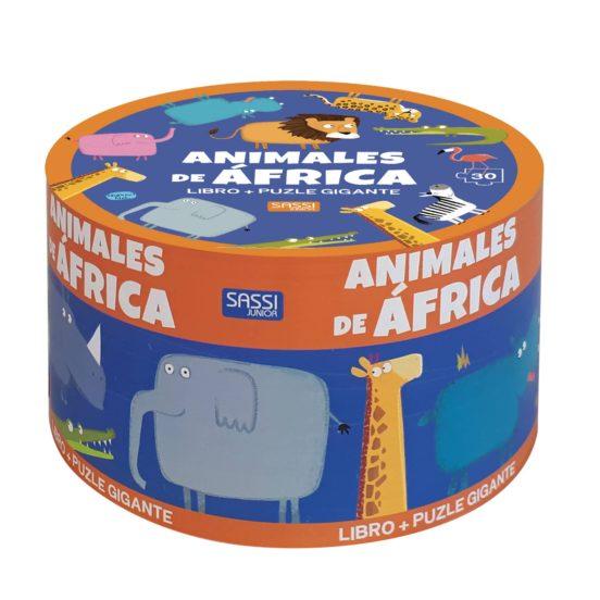 ANIMALES DE AFRICA LIBRO + PUZZLE GIGANTE